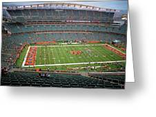 Paul Brown Stadium Greeting Card by Dan Sproul