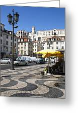 Pedro Iv Square Best Known As Rossio Square Greeting Card