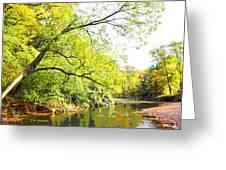Pennsylvania Autumn Pennypack Creek Philadelphia Pennsylvania Greeting Card