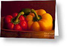 Peppers Still Life Close-up Greeting Card