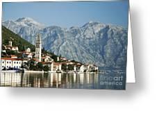 Perast In Kotor Bay Montenegro Greeting Card