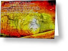 2 Peter 2 2122 Greeting Card