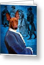 Pharaoh Hound Art Canvas Print Greeting Card