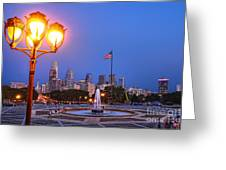 Philadelphia At Dusk Greeting Card by Olivier Le Queinec