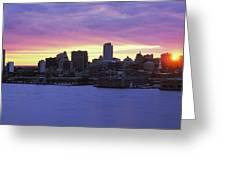 Philadelphia Skyline At Dusk Greeting Card