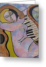 Pianos And Guitars Greeting Card by Chaline Ouellet