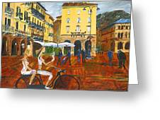 Piazza De Como Greeting Card