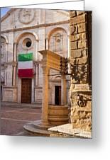 Pienza Tuscany Greeting Card