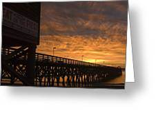 Pier Myrtle Beach Sc Greeting Card
