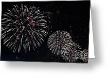 Pink Fireworks Greeting Card