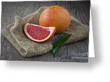 Pink Grapefruit Greeting Card by Sabino Parente