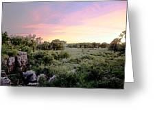 Pipestone Monument Sunset Greeting Card