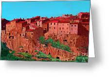 Pitigliano Village Greeting Card