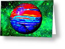 Planet Disector Red 1 Greeting Card