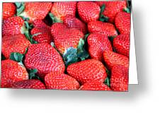 Plant City Strawberries Greeting Card