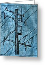 Pole With Transformer Greeting Card