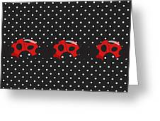 Polka Dot Lady Bugs Greeting Card