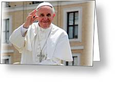Pope Francisco Greeting Card by Diane Greco-Lesser
