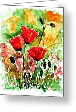 Poppy Lawn Greeting Card