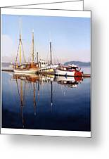 Port Orchard Marina Reflections Greeting Card