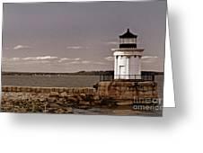 Portland Breakwater Lighthouse Greeting Card