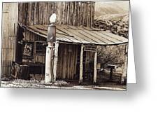 Post Office-gas Station Ghost Town Wagoner Arizona 1968 Greeting Card