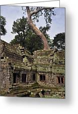 Preah Khantemple At Angkor Wat Greeting Card