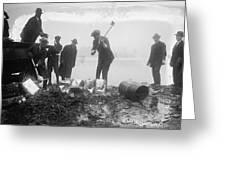 Prohibition Feds Destroy Liquor  1923 Greeting Card