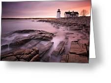 Prospect Harbor Light Greeting Card