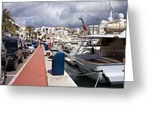 Puerto Banus Marina Greeting Card