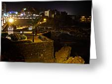 Puerto De La Cruz By Night Greeting Card