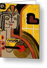 Queen Of Hearts Of Egypt Greeting Card