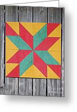 Quilting The Barn  Greeting Card