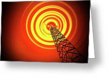 Radio Communications Tower Greeting Card