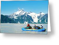Rafters On The Alsek River Greeting Card