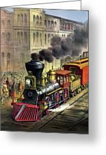 Railroad, 1874 Greeting Card
