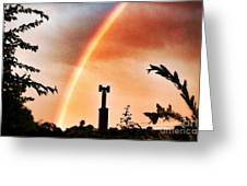 Rainbow Over The City Greeting Card