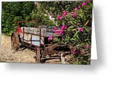 Ranch Wagon Cross Over Greeting Card