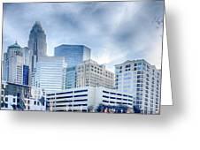 Rare Winter Scenery Around Charlotte North Carolina Greeting Card