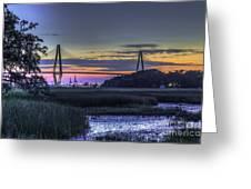 Charleston Bridge Low Tide Greeting Card