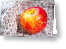 Red And Yellow Apple Greeting Card