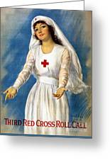 Red Cross Poster, 1918 Greeting Card