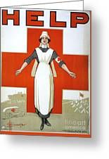 Red Cross Poster, C1917 Greeting Card