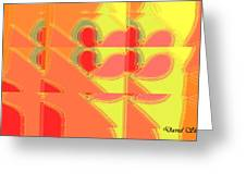 Red Effect Greeting Card