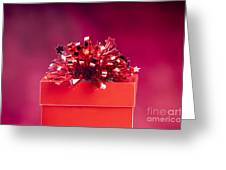Red Gift Box Greeting Card