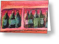 Red In A Row Greeting Card by Steve Jorde