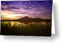 Red Mountain Reflections  Greeting Card