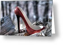 Red Shoe Greeting Card
