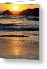 Reflections Of Sunset Greeting Card