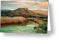 Reginu River And Punta Di Paraso Greeting Card